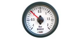 Indicatore meccanico pressione turbo + vac white line