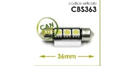 Lampade a led 12 volt siluro 39mm 3 led 6000K