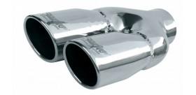 Terminale Rotondo doppio in inox - inclinato / fissaggio con bulloni