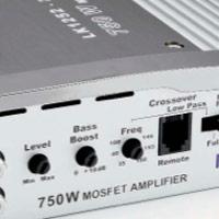 Morsettiere e controlli dell'amplificatore Impact LK 1252